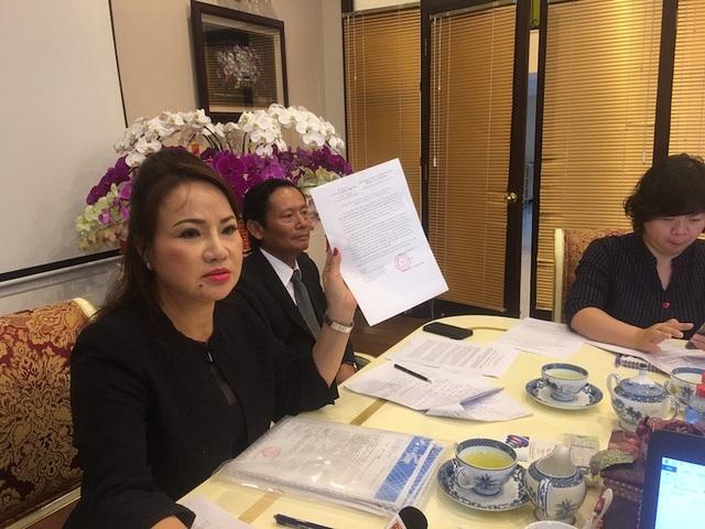 Bản dự thảo thoả thuận số tiền tạm ứng này đã bị bên bà Bình từ chối.