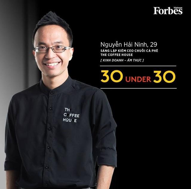 Nguyễn Hải Ninh từng lọt Top 30 Gương mặt trẻ dưới 30 nổi bật nhất của Việt Nam và châu Á do Forbes bình chọn.