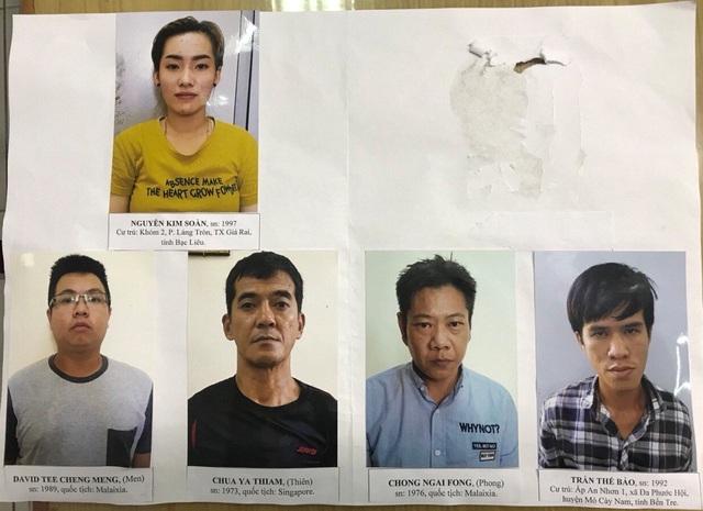 Nhóm nghi phạm bị công an Cần Thơ bắt khẩn cấp
