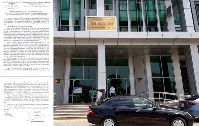 Sau 2 lần Sở Nội vụ gửi văn bản, Sở TN&MT tỉnh, UBND TP. Vũng Tàu mới gửi báo cáo xác định trách nhiệm của tổ chức và cá nhân liên quan đến sai phạm theo kết luận thanh tra của Thanh tra tỉnh BR-VT.