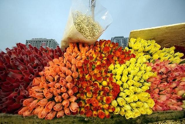 Chợ hoa đầu mối lớn nhất Hà Nội tấp nập trước ngày 8/3 - 18