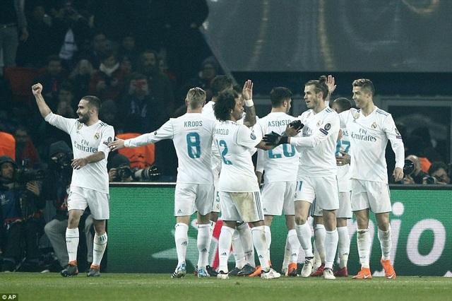 Real Madrid chơi khôn ngoan và có được bàn thắng dẫn trước 1-0 ở phút 51