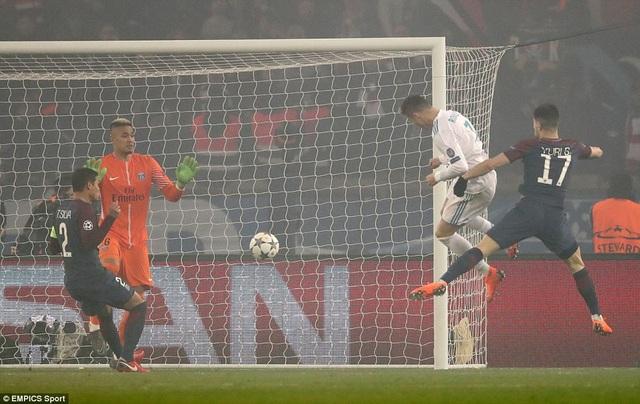 C.Ronaldo đánh đầu mở tỷ số cho Real Madrid ở phút 51