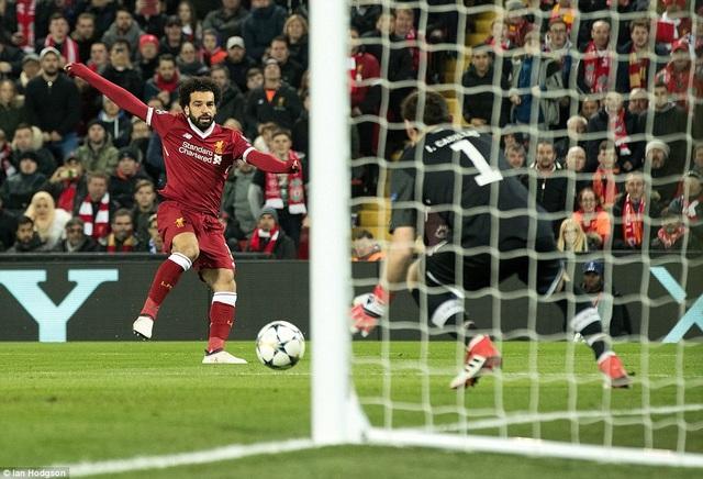Salah được thi đấu khoảng 15 phút cuối trận và anh chỉ có một lần dứt điểm