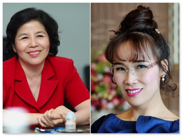 Bà Mai Kiều Liên - CEO Vinamilk và bà Nguyễn Thị Phương Thảo - CEO Vietjet Air