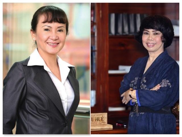 Bà Huỳnh Bích Ngọc (trái) và bà Thái Hương (phải)