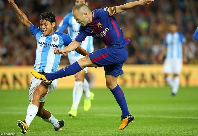 Barcelona đã dễ dàng hạ Malaga 2-0 ở lượt đi