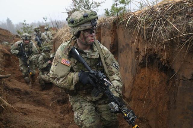 Binh sĩ Mỹ tập trận gần Pabrade, Lithuania năm 2016. (Ảnh: Getty)