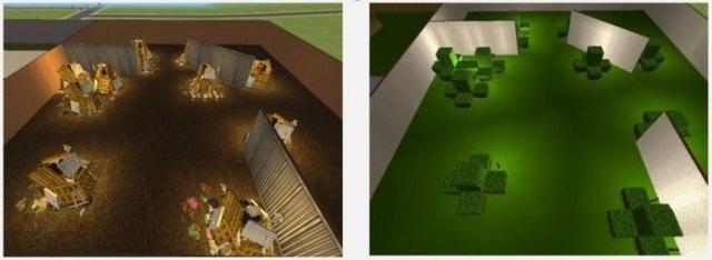 Cảnh trong thí nghiệm được bố trí tương tự trong trò chơi, chỉ khác nhau về chủ đề - Ảnh của Cleary et al, tờ Pschycological Science.