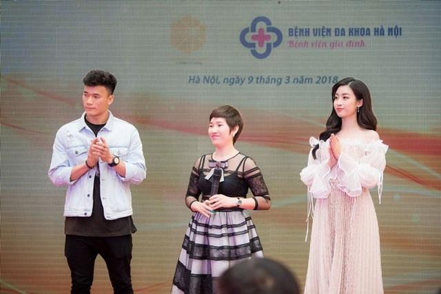 Thủ môn Bùi Tiến Dũng và Hoa hậu Đỗ Mỹ Linh là khách mời tại sự kiện sáng ngày 9/3 tại Hà Nội.