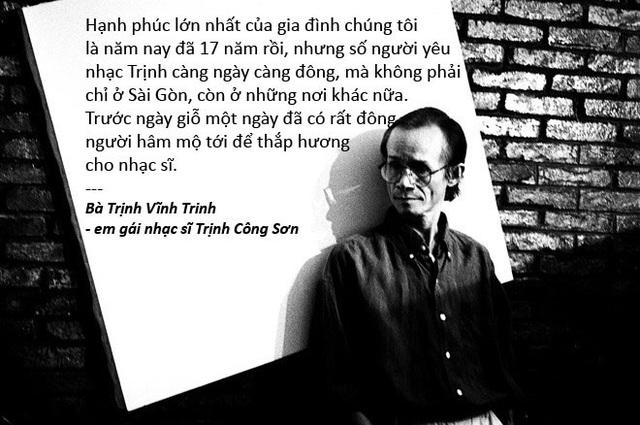 Xem thêm: 17 năm ngày mất, khán giả vẫn ấm nồng tình cảm với cố nhạc sĩ Trịnh Công Sơn