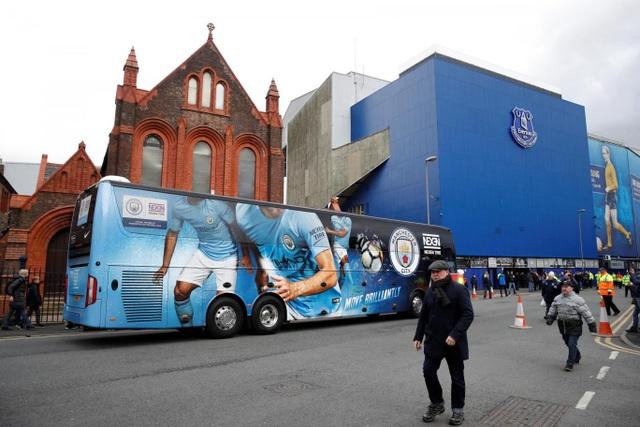 Goodison Park trước giờ bóng lăm, Everton được dự đoán sẽ gây khó khăn cho Man City ở trận đấu thuộc vòng 32 Premier League