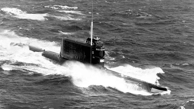 Một tàu ngầm Nga cùng loại với chiếc K-129 bị đắm. (Ảnh tư liệu)