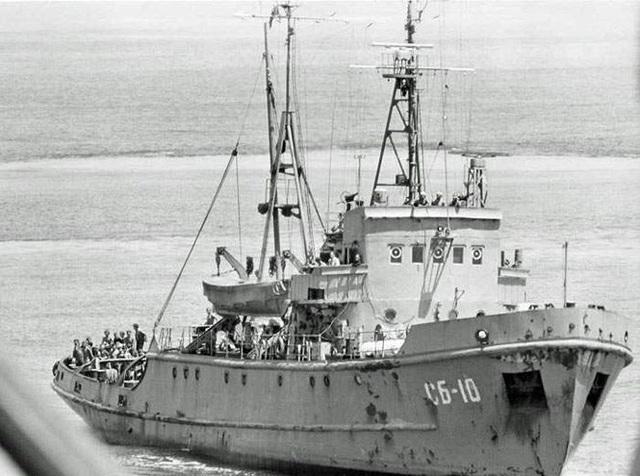 Chiếc tàu do thám của Liên Xô theo dõi tàu Hughes Glomar Explorer. (Ảnh tư liệu)