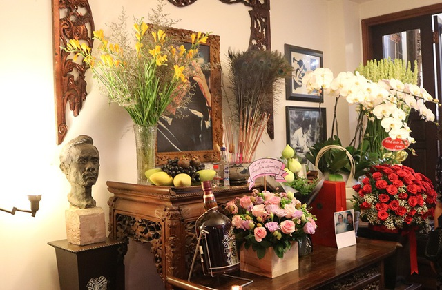 Không gian ấm cúng tại nhà tưởng niệm nhạc sĩ Trịnh Công Sơn, ở TPHCM sáng nay.