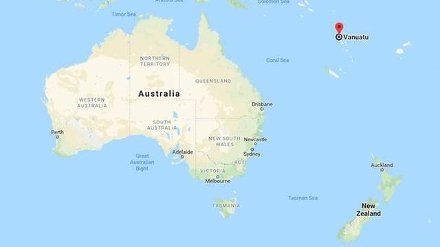 Vanuatu cách Australia khoảng 2.000km về phía đông. (Ảnh: Google Maps)
