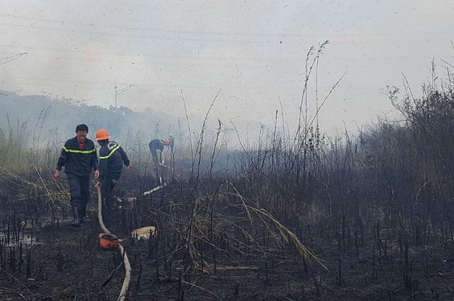 """Cháy bãi cỏ, đường dây điện 500kv khu vực Nam Sài Gòn bị """"uy hiếp"""" - 5"""