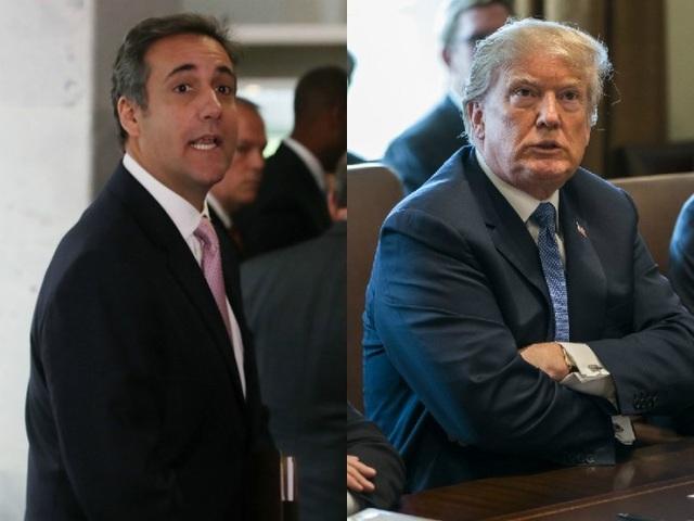 Tổng thống Mỹ Donald Trump (phải) và luật sư riêng Michael Cohen (Ảnh: Getty)