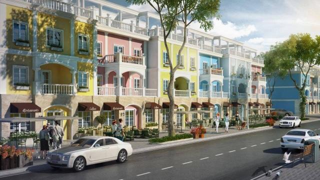 Phối cảnh Shophouse Oyster FLC Quang Binh Beach & Golf Resort