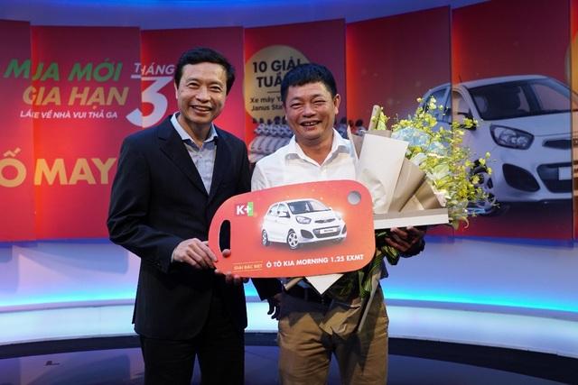 Anh Nguyễn Trung Thành - chủ nhân của giải đặc biệt xe Kia Morning là thuê bao đã gắn bó với K+ từ những ngày đầu