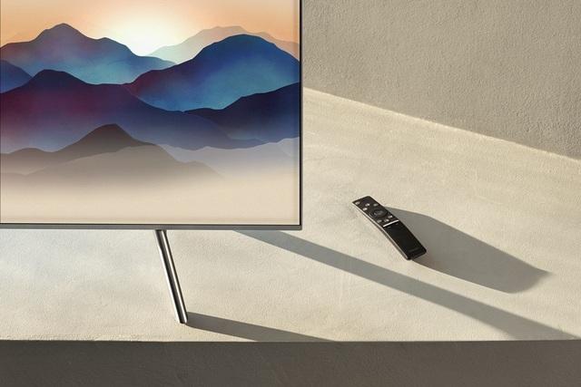 One Remote Control chính là một mãnh ghép vừa thông minh vừa sang trọng của TV QLED 2018.