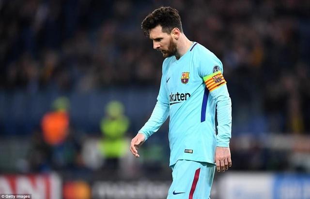 Messi thi đấu tệ ở trận gặp AS Roma