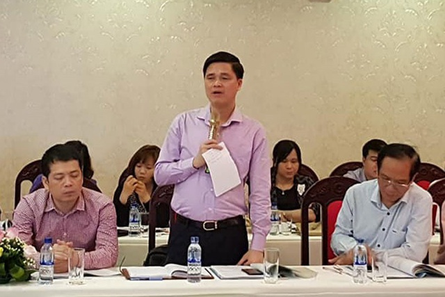 Ông Ngọ Duy Hiểu - Ủy viên Đoàn Chủ tịch, Trưởng ban Quan hệ lao động Tổng LĐLĐVN - phát biểu tại hội thảo. Ảnh: XUÂN HÙNG