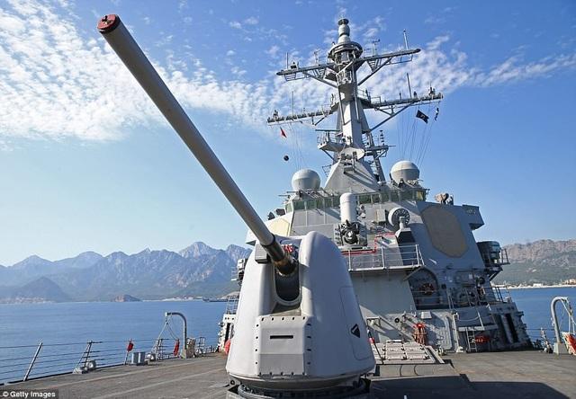 Tàu USS Donald Cook của Mỹ đang ở rất gần Syria. (Ảnh: Getty)