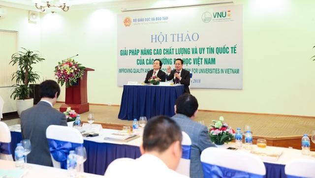 Xếp hạng đại học là giải pháp quan trọng nhất để nâng cao chất lượng giáo dục đại học Việt Nam