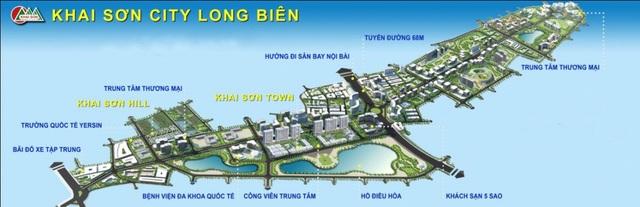 Khai Sơn City sở hữu quy mô lên tới hơn 180ha, mang đến thị trường nhiều loại hình sản phẩm cao cấp.
