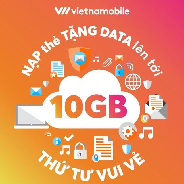 """Nạp thẻ vào thứ 4 để được hưởng ưu đãi data """"khủng"""" từ Vietnamobile"""