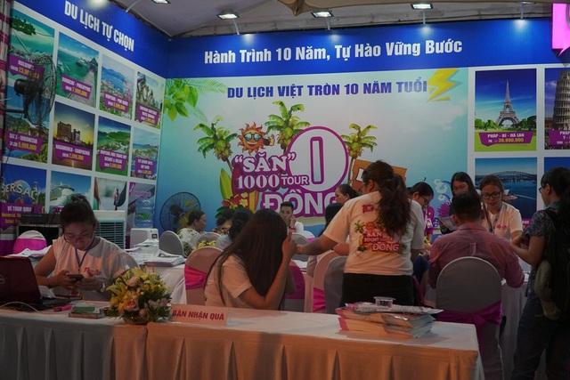 Chương trình tour 0 đồng của Du lịch Việt thu hút khá đông du khách