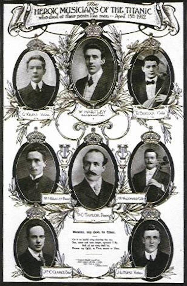 Ban nhạc của tàu Titanic đã chơi nhạc cho tới thời khắc cuối cùng.