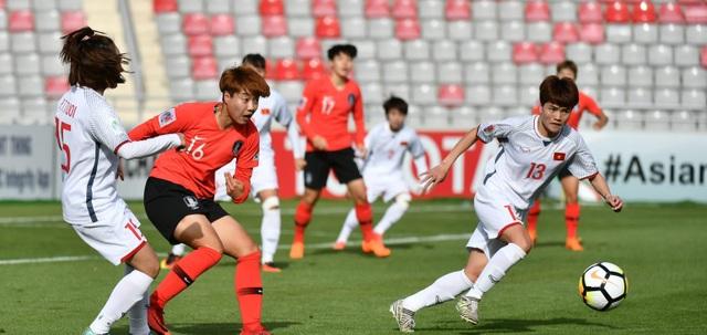 Đội tuyển nữ Việt Nam không thể vượt qua Hàn Quốc
