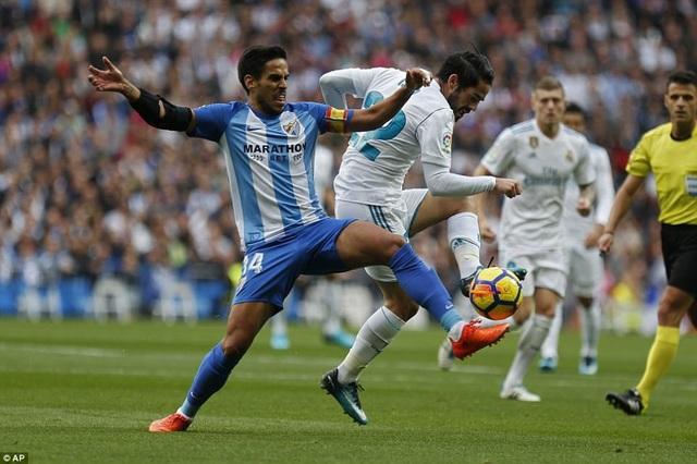 Malaga đã gây ra nhiều khó khăn khi đối đầu Real Madrid ở lượt đi