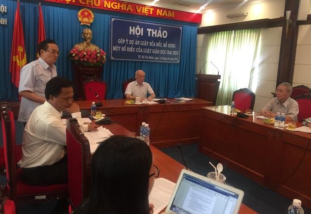 Toàn cảnh buổi hội thảo góp ý cho dự án luật sửa đổi, bổ sung một số điều của luật Giáo dục ĐH 