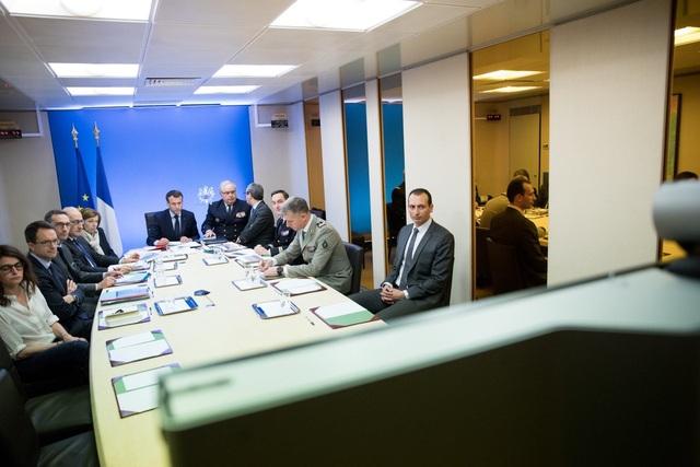 Tổng thống Pháp ra lệnh tấn công Syria tối 13/4. (Ảnh: AFP)