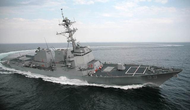Nhiều tàu khu trục của Hải quân Mỹ tham gia vào đợt triển khai này. (Ảnh: Dailymail)