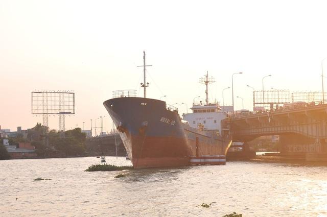 Tàu hàng khủng đứt dây neo đâm vào cầu Đồng Nai