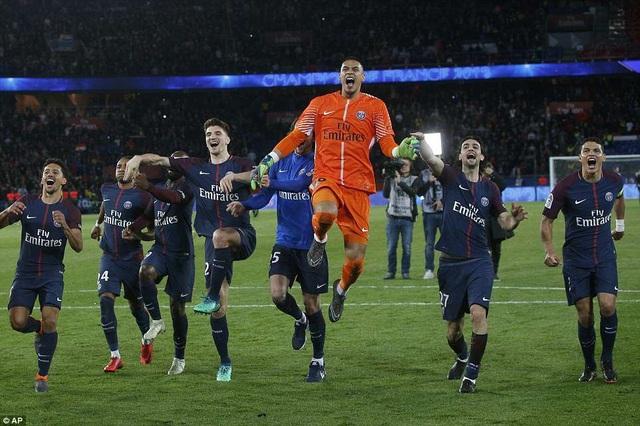 PSG chính thức lên ngôi vô địch Ligue 1