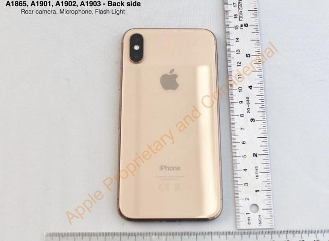 Nguyên mẫu iPhone X màu vàng được hé lộ qua tài liệu của Apple.