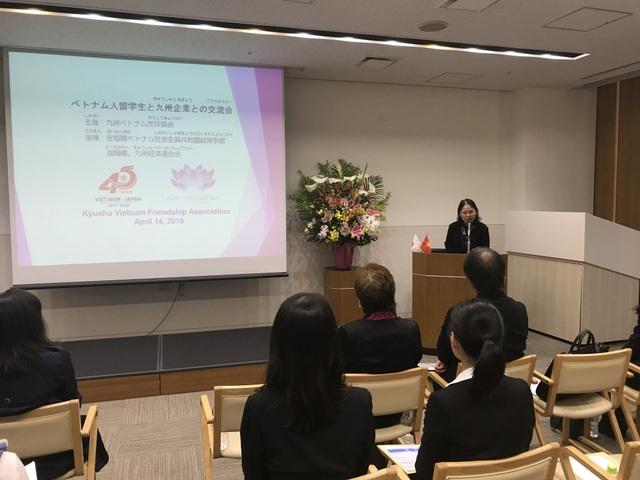 Tổng Lãnh sự Việt Nam tại Fukuoka Nguyễn Phương Hồng phát biểu khai mạc chương trình.