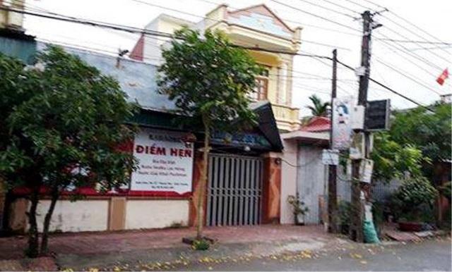 Quán Cà phê - Karaoke Điểm Hẹn tại xã Thanh Tân, huyện Kiến Xương, tỉnh Thái Bình, nơi xảy ra sự việc