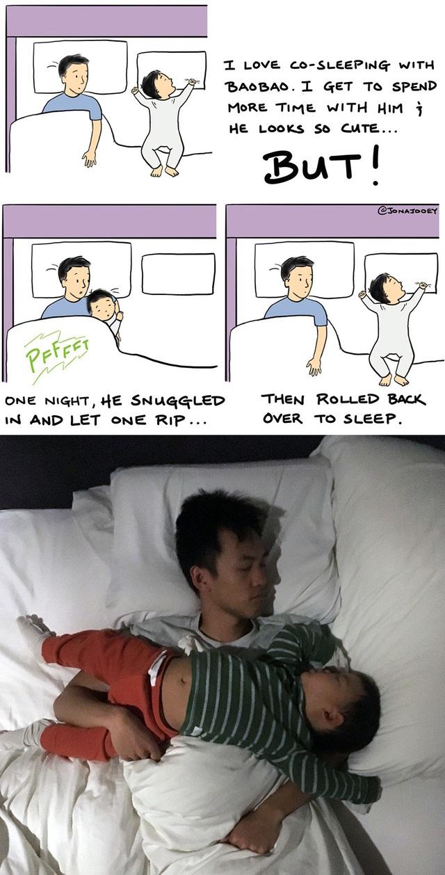 Tôi thích ngủ cùng thằng nhóc, cần phải dành nhiều thời gian cho nó hơn, thằng bé đáng yêu quá... Và, sự thật thì không như là mơ!