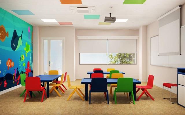 Nội thất VUS Kids Trần Não được thiết kế phù hợp lứa tuổi giúp các em luôn cảm thấy hào hứng khi đến trường.