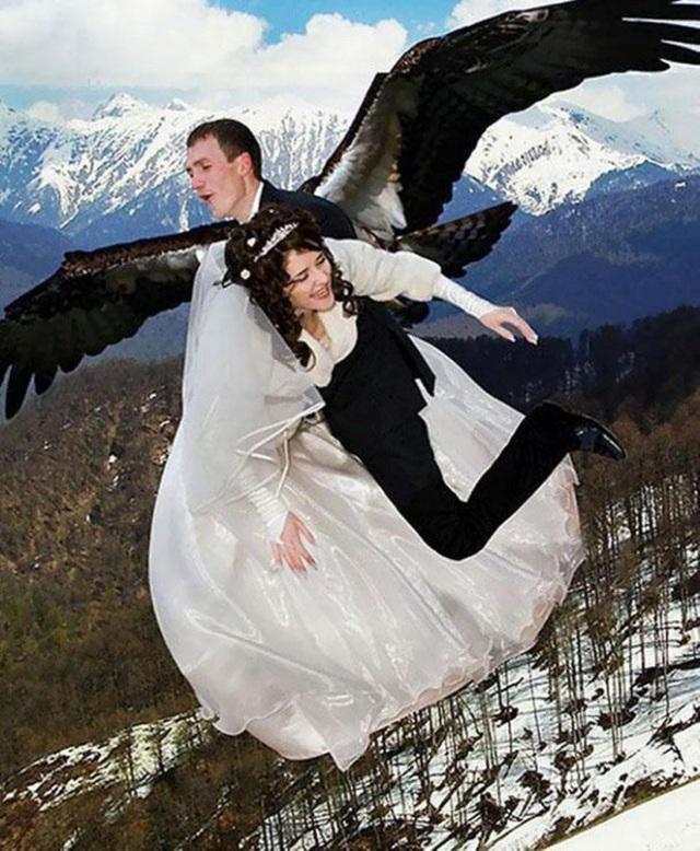 Chàng bỗng nhiên mọc cánh và màn đưa dâu bá đạo