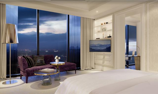 Master bedroom với tầm nhìn tuyệt đẹp về trung tâm Sài Gòn