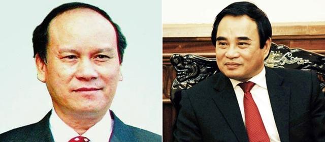 Bị can Trần Văn Minh (trái) và Văn Hữu Chiến.