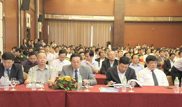 Các đại biểu tham dự Hội nghị toàn quốc triển khai công tác Hội của Hội Nhà báo Việt Nam năm 2018 diễn ra tại Nghệ An.