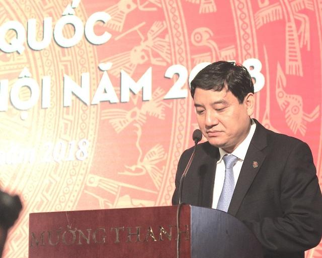 Bí thư Tỉnh ủy Nghệ An Nguyễn Đắc Vinh nói về phong trào hoạt động báo chí tại Nghệ An.